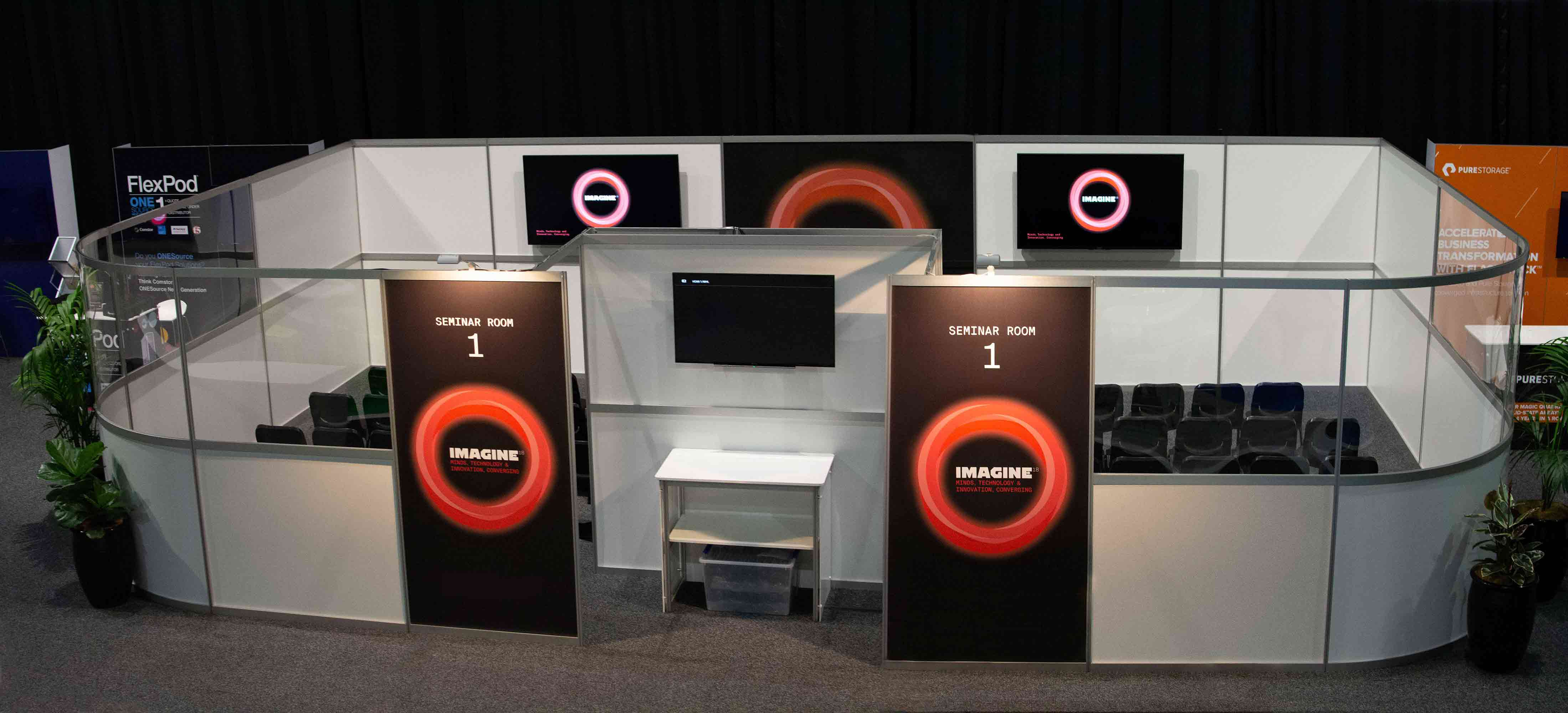 STwo storey SYMA event stand with conference area