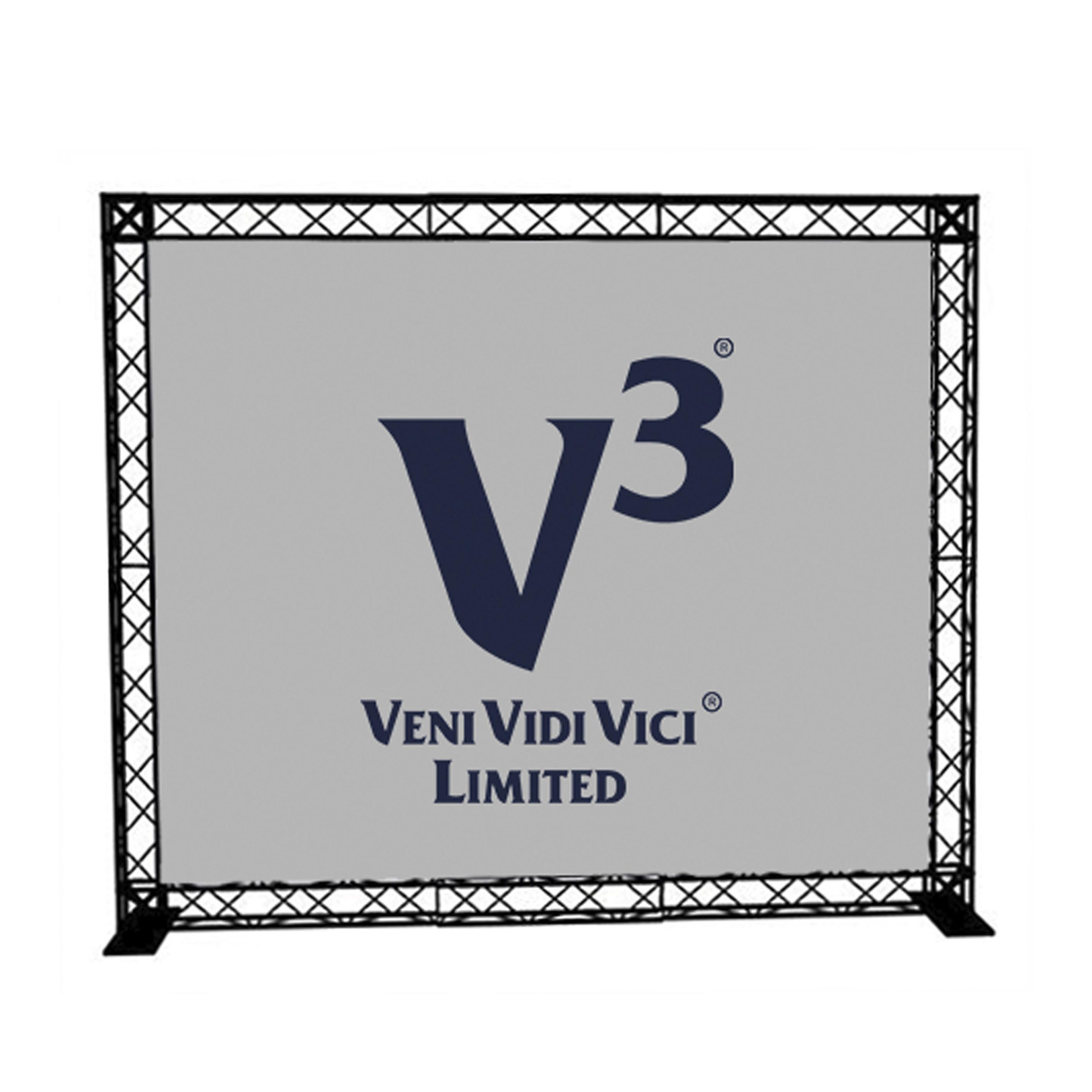 Hire Mini Truss Banners, event furniture hire